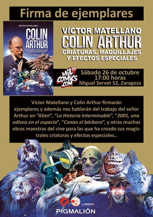 Colin Arthur y V. Matellano firman en Zaragoza