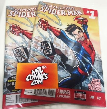 Amazing Spiderman firmado por David Baldeón