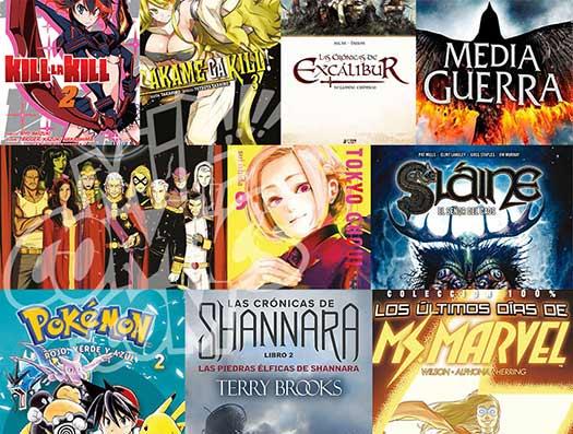 novedades cómics y libros