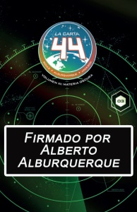 La carta 44 firmado Alburquerque