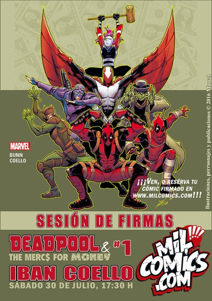 Deadpool firmado Iban Coello