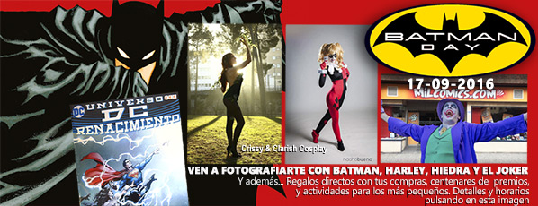 Celebra el batman Day en Milcomics