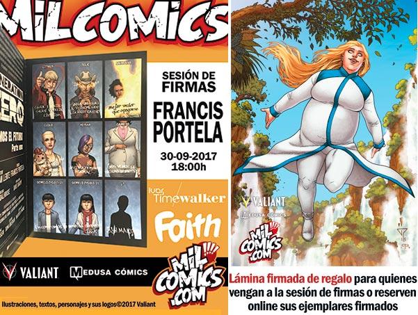 Firmas de Francis Portela y lamina de regalo en MIlComics
