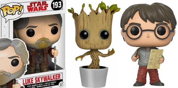 Funko Pop! Dancing Groot, Harry Potter...