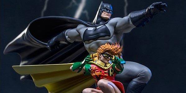 Iron Studios Art Statue Batman y Robin Return of the Dark Knight