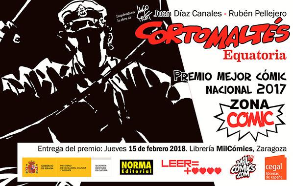 Corto Maltés Equatoria Premio Zona Cómic 2017