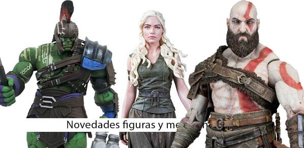 Novedades figuras y merchandising Kratos, Daenerys Hulk