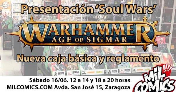 Presentación y preorder Warhammer Soul Wars en MilCómics